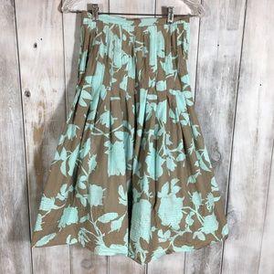 Anthropologie Aquarius Floral Midi Skirt Size 0